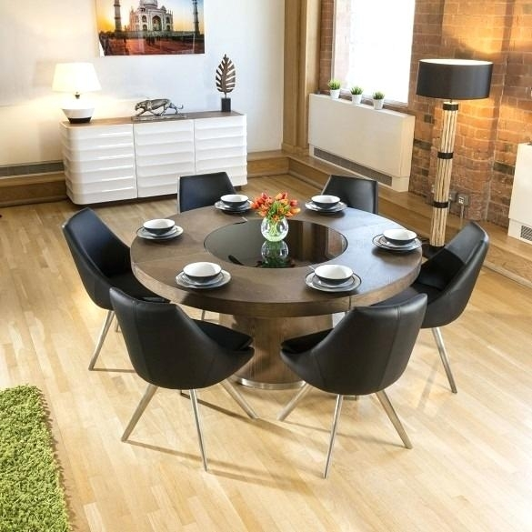 Circular Dining Table For 6 Table For 6 Circle Dining Table Round Regarding Black Circular Dining Tables (Image 10 of 25)