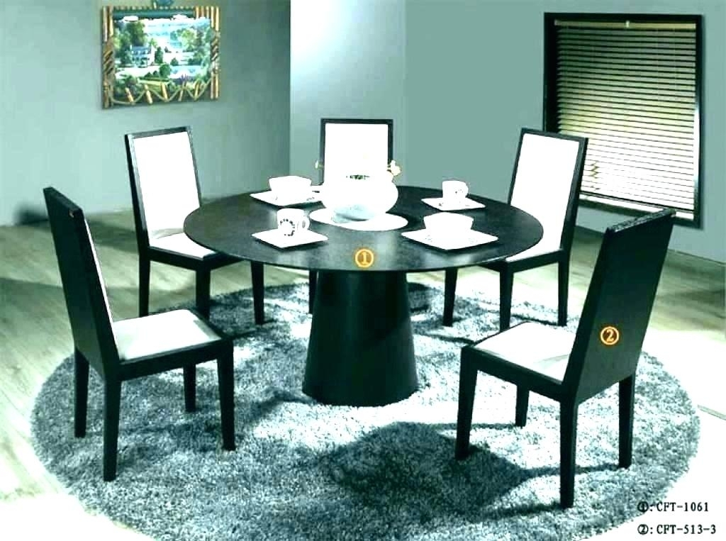Circular Dining Table For Circular Kitchen Table Black Circle Dining Pertaining To Black Circular Dining Tables (Image 11 of 25)
