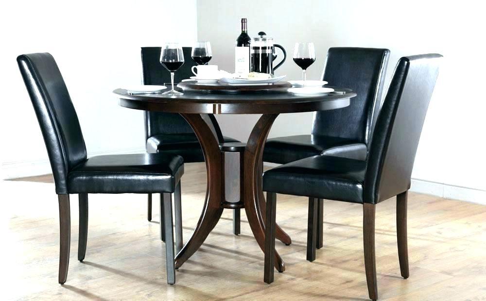 Circular Dining Table Glass Set – Arthritismom For Black Circular Dining Tables (Image 12 of 25)