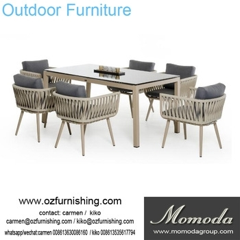 Ck207 Modern Outdoor Furniture Garden Dining Table Set Dining Table Within Garden Dining Tables And Chairs (Image 4 of 25)