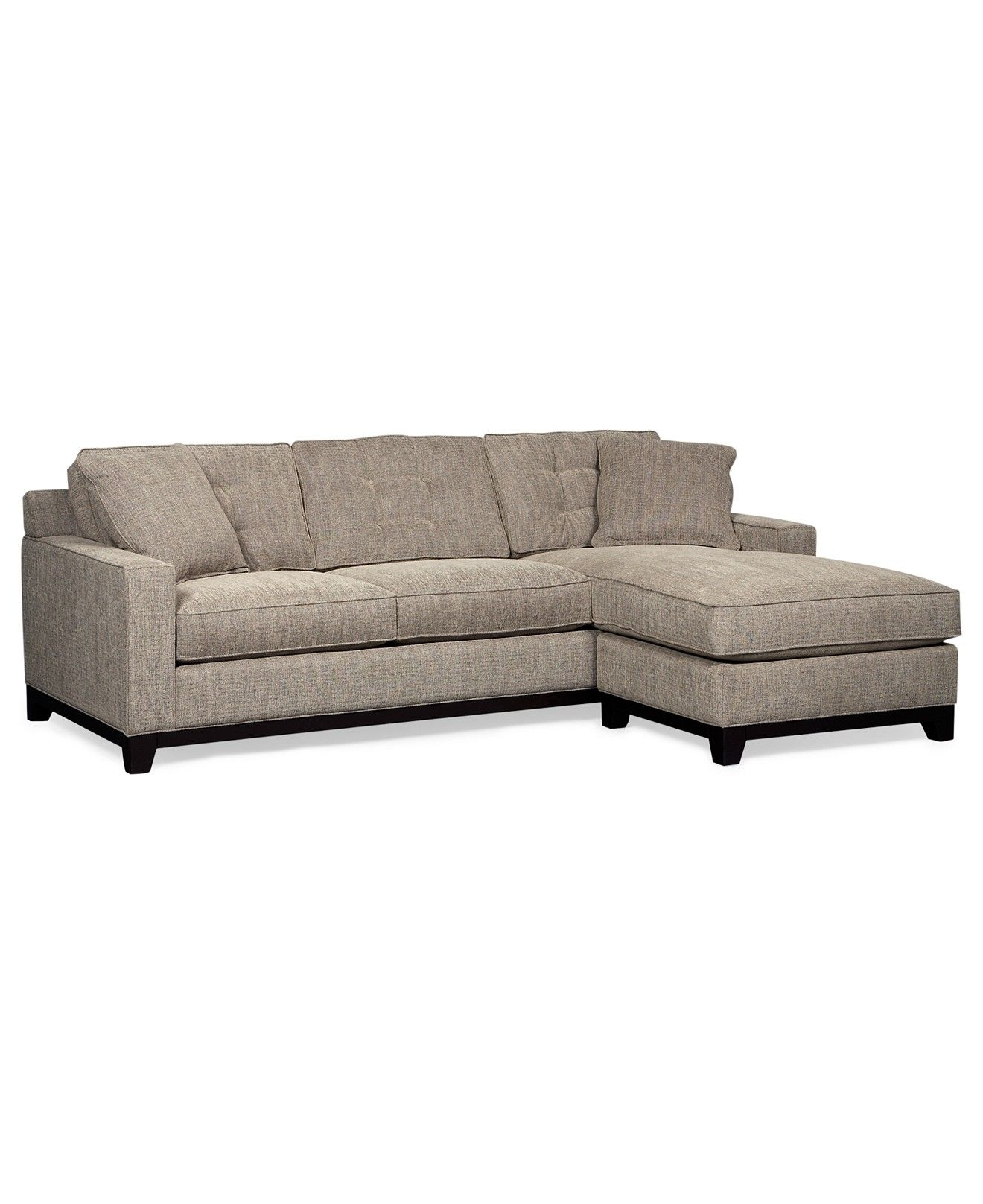 Clarke Fabric 2 Piece Sectional Sofa, Only At Macy's – Couches Pertaining To Turdur 2 Piece Sectionals With Laf Loveseat (View 5 of 25)