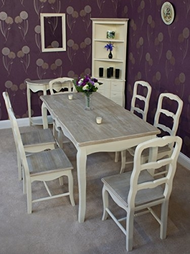 Classic Casamore Devon Rectangular Dining Table And 6 Dining Chairs With French Chic Dining Tables (Image 6 of 25)
