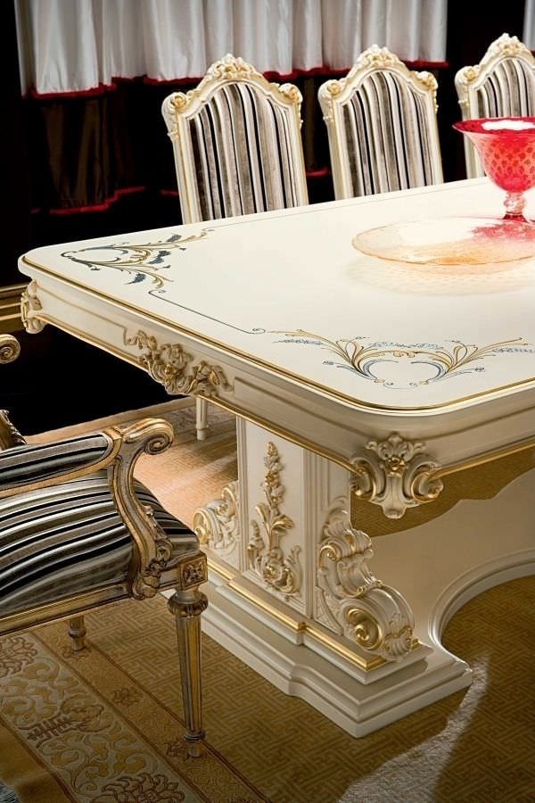 Classic Dining Table / Crystal / Rectangular / For Hotels – Talia Throughout Crystal Dining Tables (View 17 of 25)