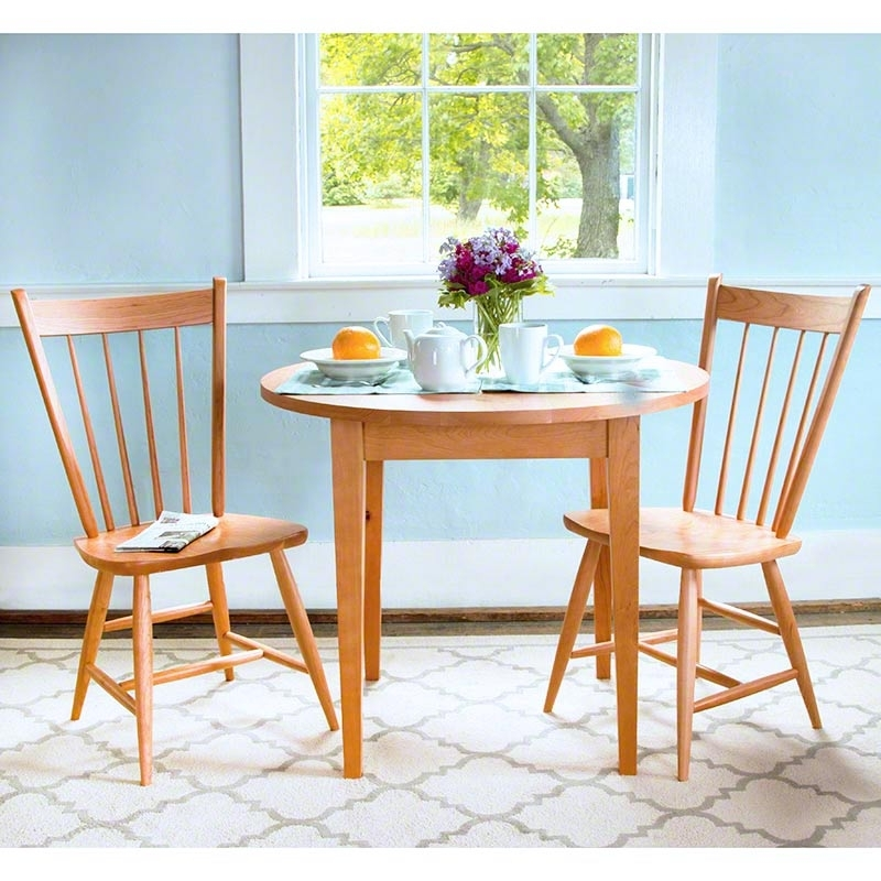 Classic Shaker Round Dining Table – Vermont Woods Studios Within Craftsman Round Dining Tables (Image 7 of 25)
