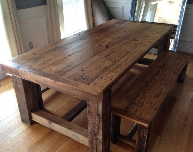 Classy Of Recycled Dining Tables Recycled Barn Wood Tables Dining Regarding Wood Dining Tables (Image 3 of 25)