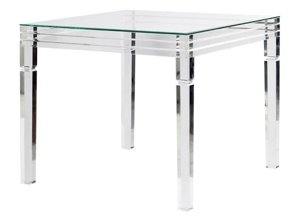 Clear Acrylic Contemporary Furniture Collection – Perspex Furniture In Round Acrylic Dining Tables (Image 8 of 25)