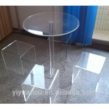 Clear Acrylic Round Dining Table/acrylic Round Table Top/acrylic Regarding Acrylic Round Dining Tables (View 4 of 25)