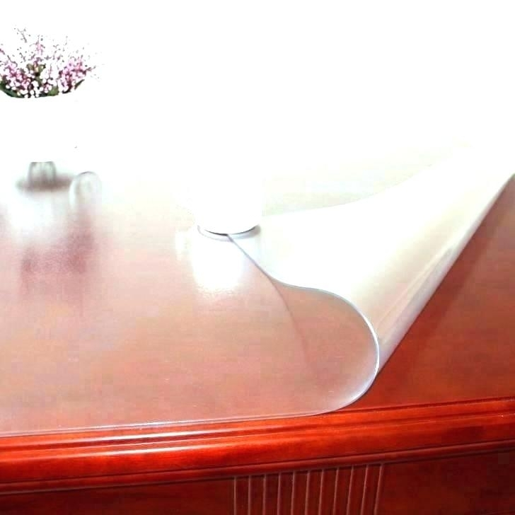 Clear Dining Table Protector – Venuzcraft Within Clear Plastic Dining Tables (Image 10 of 25)