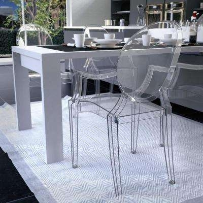Clear – Kitchen & Dining Room Furniture – Furniture – The Home Depot Regarding Clear Glass Dining Tables And Chairs (Image 7 of 25)