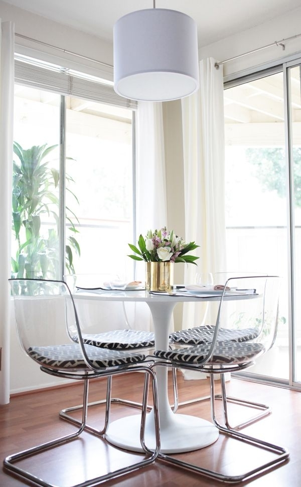 Clear Perspex Dining Chairs Dining Chairs Clear Perspex Dining Table Throughout Clear Plastic Dining Tables (Image 11 of 25)