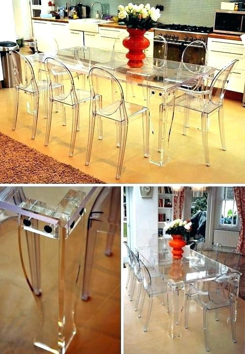 Clear Plastic Dining Table Miraculous Clear Dining Table Miraculous Intended For Clear Plastic Dining Tables (Image 13 of 25)
