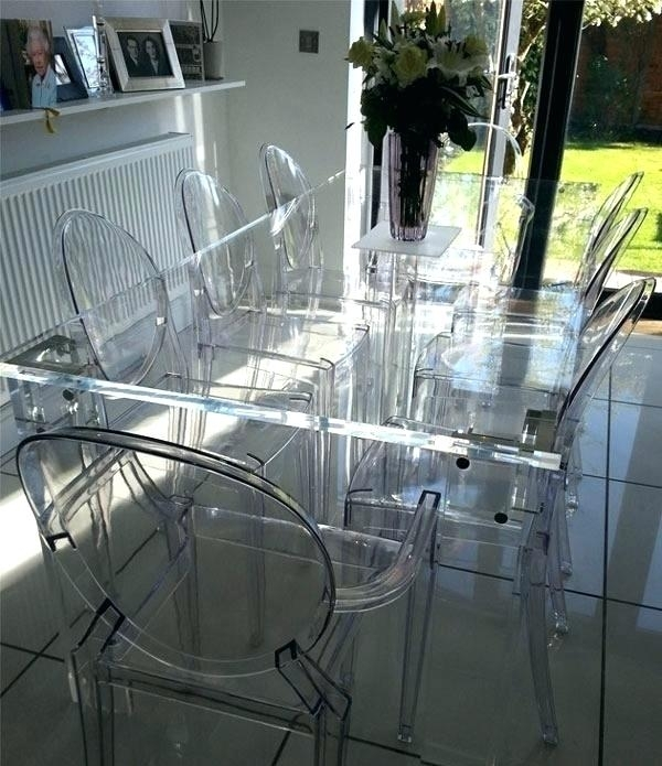 Clear Plastic Dining Table White Molded Plastic Dining Chairs Design Regarding Clear Plastic Dining Tables (View 2 of 25)