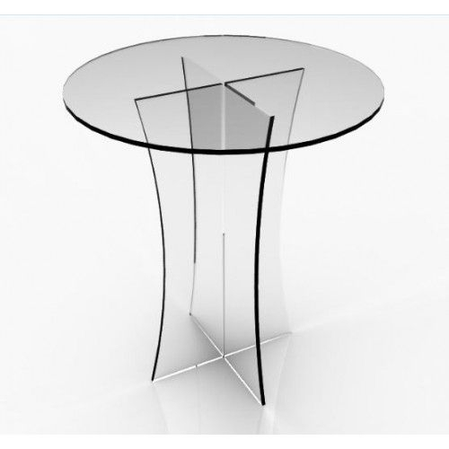 Clear Plexiglass Lucite Acrylic Round Dining/ Tradeshow Table, 29 Throughout Acrylic Round Dining Tables (View 16 of 25)