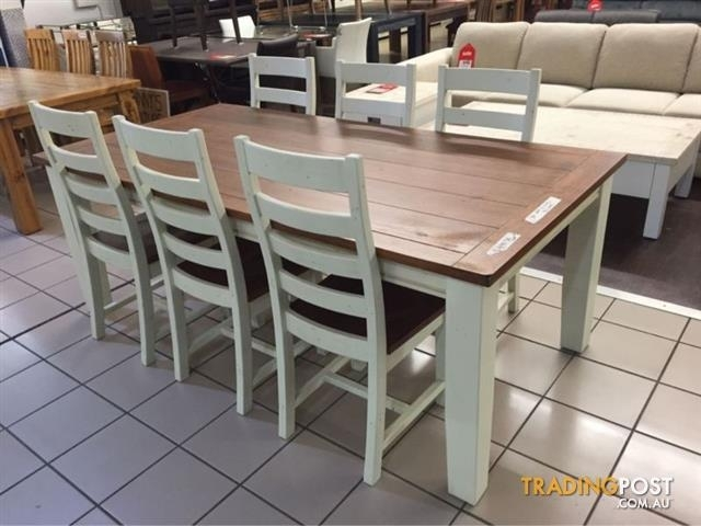 Clearance | Snowy River Dining Set (7 Pieces) For Sale In Logan Throughout Logan 7 Piece Dining Sets (View 14 of 25)