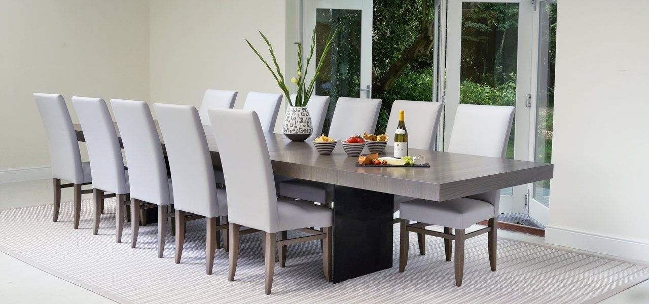 Clifton Extending Dining Table With Steel Leg Plates Intended For Dining Tables With Large Legs (Image 2 of 25)