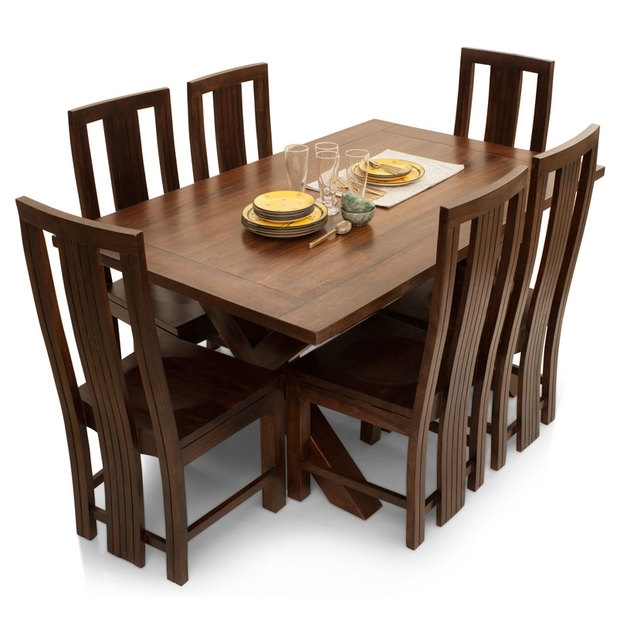 Clovis Barcelona 6 Seater Dining Table Set – Lock And Pull Pertaining To 6 Seater Dining Tables (Image 15 of 25)