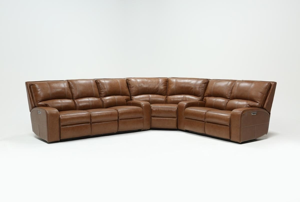 Clyde Saddle 3 Piece Power Reclining Sectional W/power Hdrst & Usb Intended For Waylon 3 Piece Power Reclining Sectionals (Image 9 of 25)