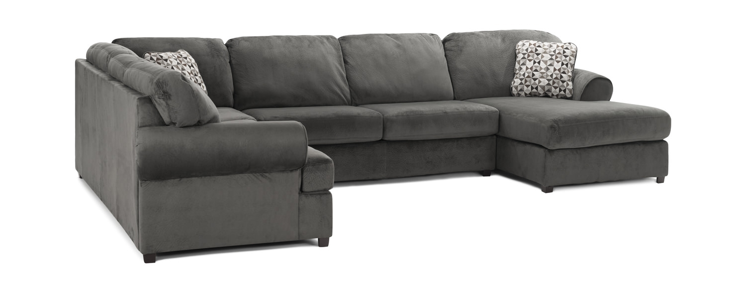 Coach 3 Piece Sectional | Hom Furniture With Haven Blue Steel 3 Piece Sectionals (Image 7 of 25)