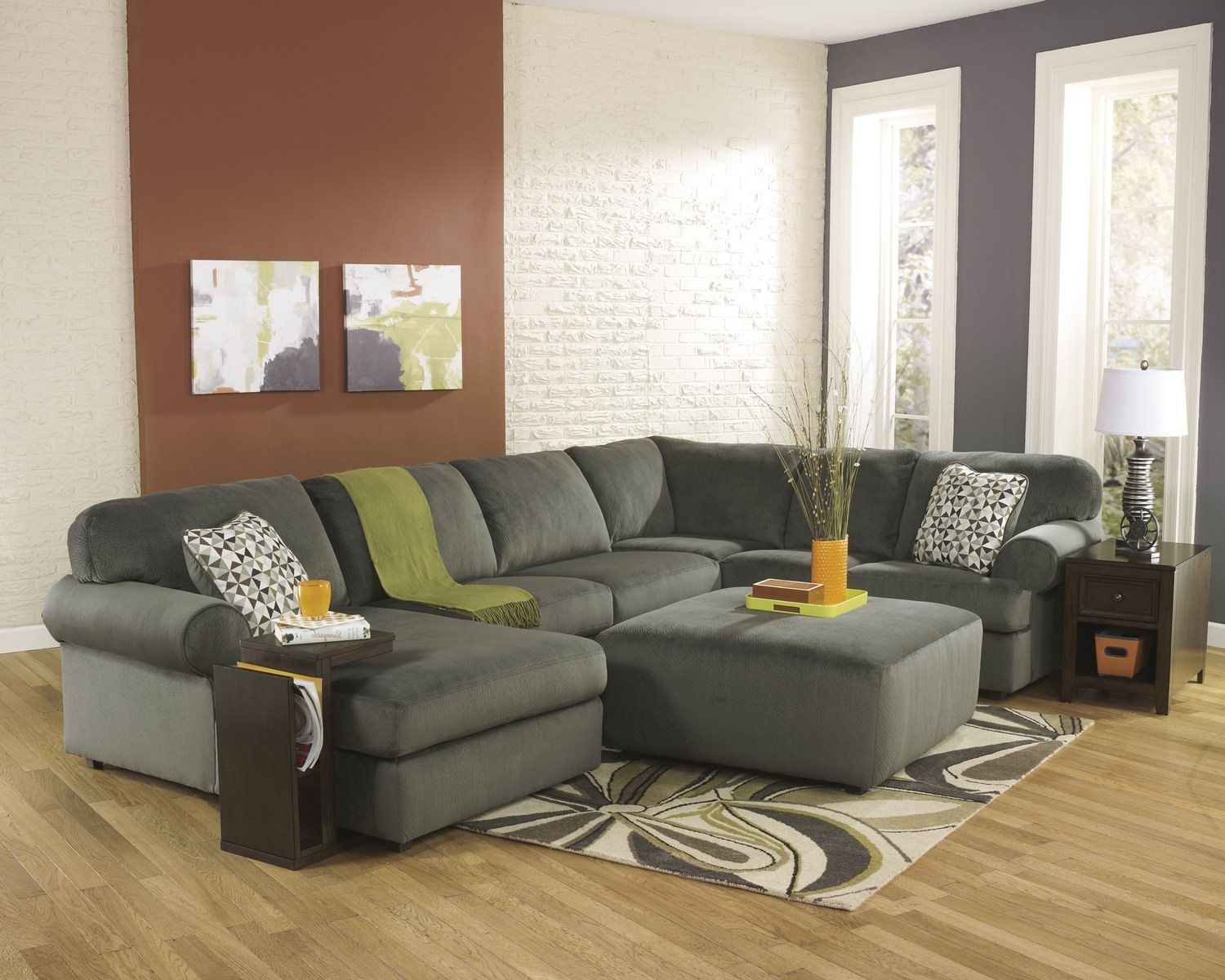 """Coach 3 Piece Sectional """"Pewter"""" 
