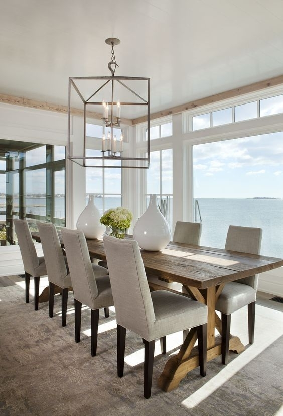 Coastal Style: Hamptons Style 'au Naturale' … | Dining Room | Pinte… In Coastal Dining Tables (View 2 of 25)