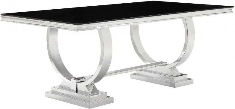 Coaster Antoine Chrome Dining Table – Antoine Collection: 7 Reviews With Chrome Dining Tables (Image 6 of 25)