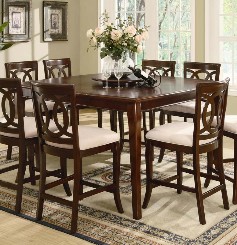 Coaster Caden Counter Height Table 102038 At Homelement Pertaining To Caden Round Dining Tables (Image 18 of 25)