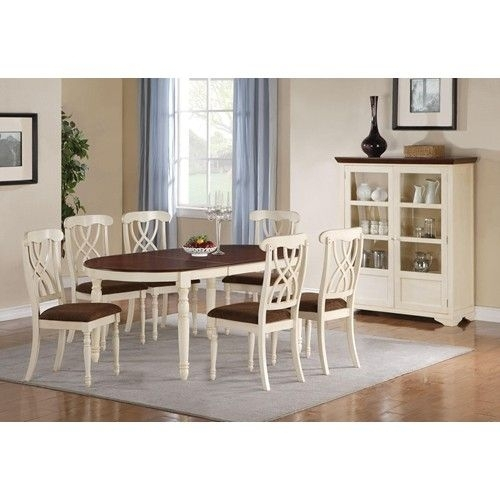 Coaster Cameron 7 Piece Cottage Oval Dining Table & Side Chair Set With Regard To Amos 7 Piece Extension Dining Sets (View 14 of 25)