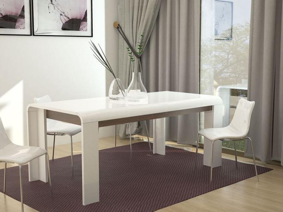 Cobra Modern Dining Table | High Gloss White Dining Table For White Gloss Dining Room Furniture (Image 8 of 25)