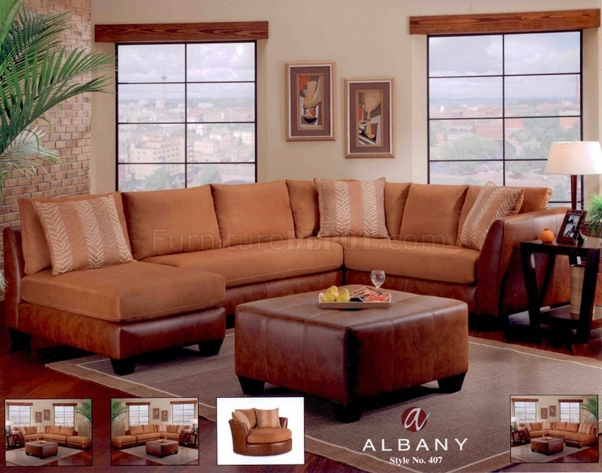 Cognac Leather Sectional Sofa | Baci Living Room Within Tenny Cognac 2 Piece Left Facing Chaise Sectionals With 2 Headrest (Image 8 of 25)