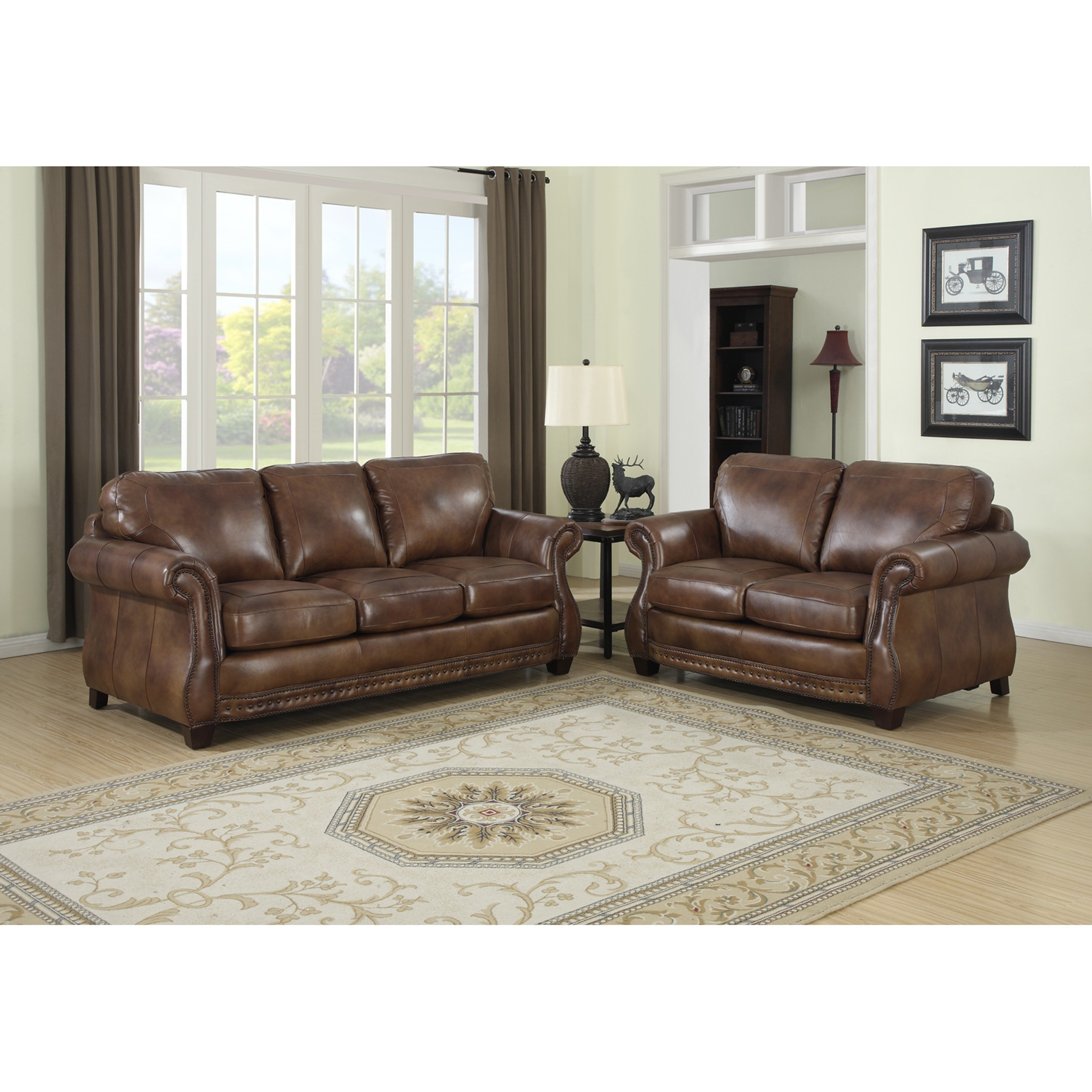 Cognac Sofa | Baci Living Room Intended For Tenny Cognac 2 Piece Right Facing Chaise Sectionals With 2 Headrest (Image 9 of 25)