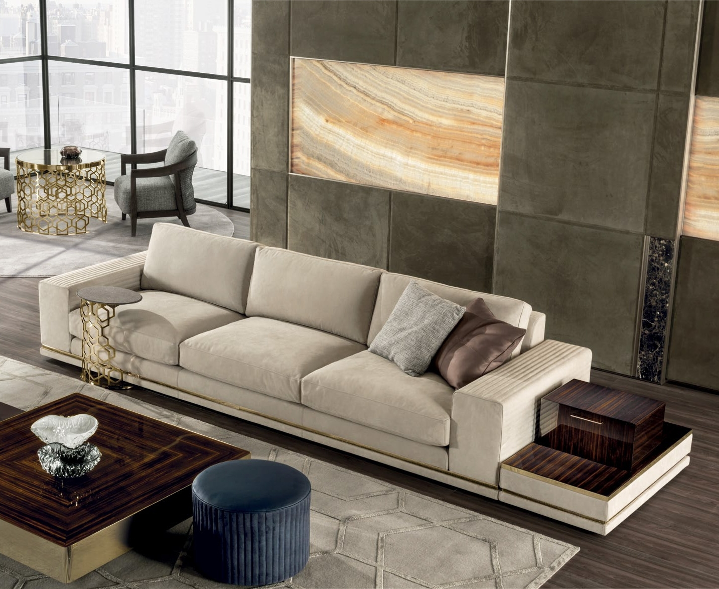 Cohen High End Italian Sofa – Italian Designer & Luxury Furniture At Inside Cohen Down 2 Piece Sectionals (Image 5 of 25)