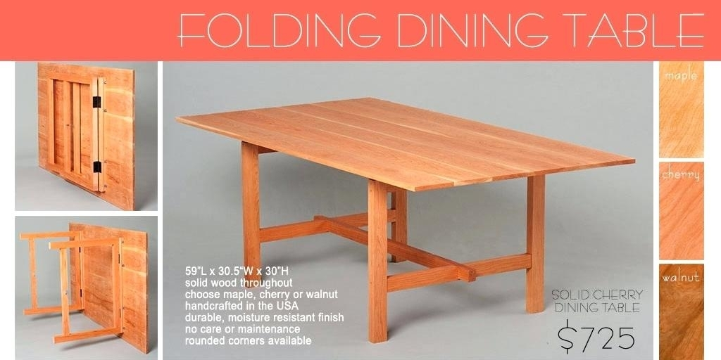 Collapsible Dining Room Table Collapsible Dining Tables Small Images Within Foldaway Dining Tables (View 25 of 25)