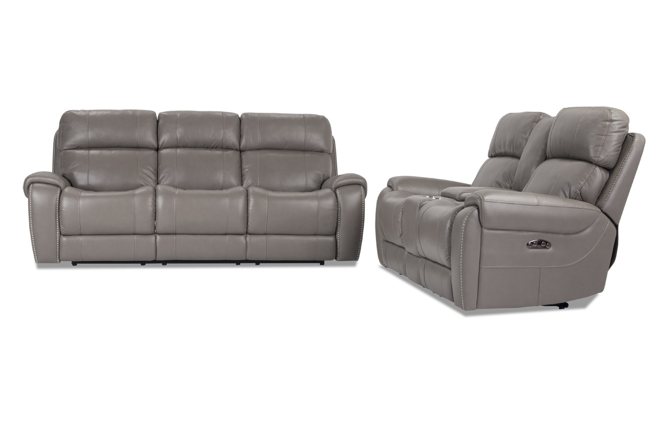 Collections | Living Room Collections | Bob's Discount Furniture In Marcus Chocolate 6 Piece Sectionals With Power Headrest And Usb (Image 4 of 25)