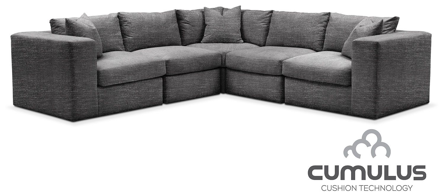 Collin Cumulus 5 Piece Sectional – Curious Charcoal | Products Throughout Collins Sofa Sectionals With Reversible Chaise (View 10 of 25)