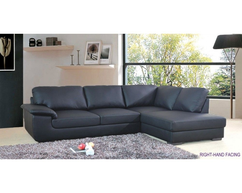 Collingwood Black Leather Corner Sofa £500 | Living Room | Pinterest Throughout London Optical Reversible Sofa Chaise Sectionals (Image 8 of 25)