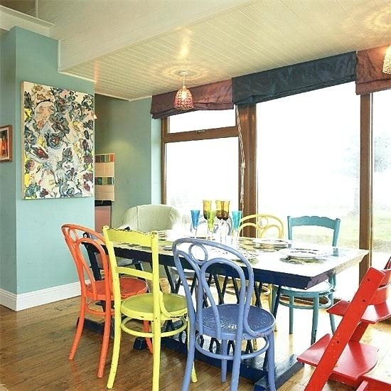 Colorful Dining Room Sets – Matras For Colourful Dining Tables And Chairs (Image 9 of 25)