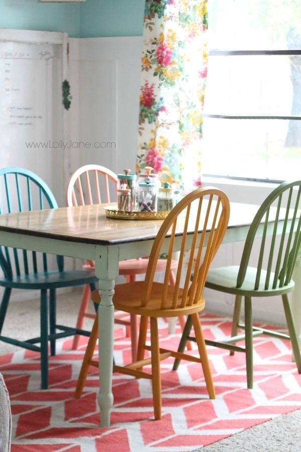 Colorful Kitchen Chairs Colorful Kitchen Tables Colorful Dining Room Within Colourful Dining Tables And Chairs (Image 10 of 25)