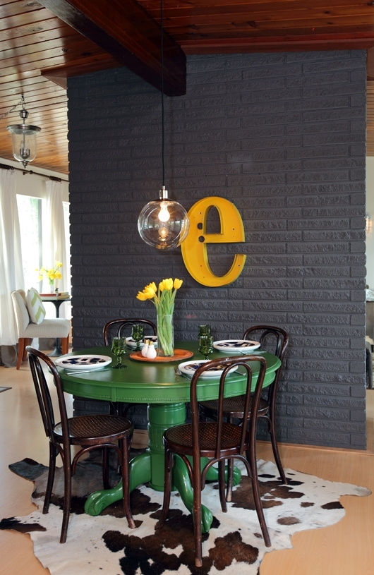 Colorful Painted Dining Table Inspiration For Green Dining Tables (Photo 1 of 25)
