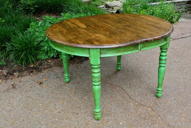 Colorful Painted Dining Table Inspiration Intended For Green Dining Tables (View 16 of 25)