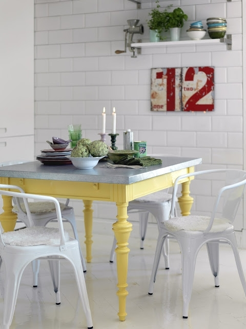 Colorful Painted Dining Table Inspiration With Painted Dining Tables (Image 8 of 25)