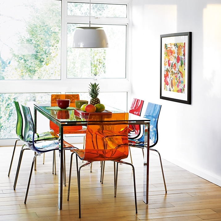 Colourful Contemporary Dining: Frost Dining Table And Gel, Colorful With Colourful Dining Tables And Chairs (Image 13 of 25)