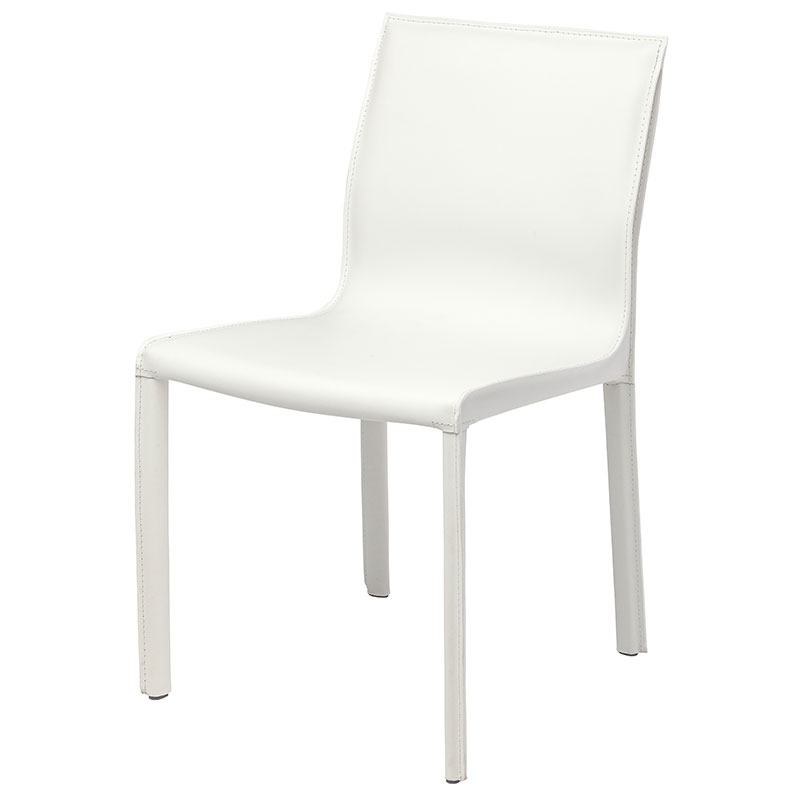 Featured Image of White Leather Dining Chairs