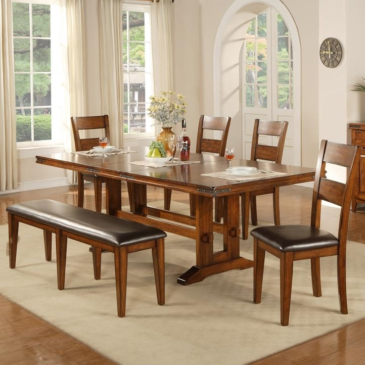 Colton 6 Piece Trestle Table, Bench And Chair Set | Rotmans | Table With Dining Room Chairs Only (Image 6 of 25)