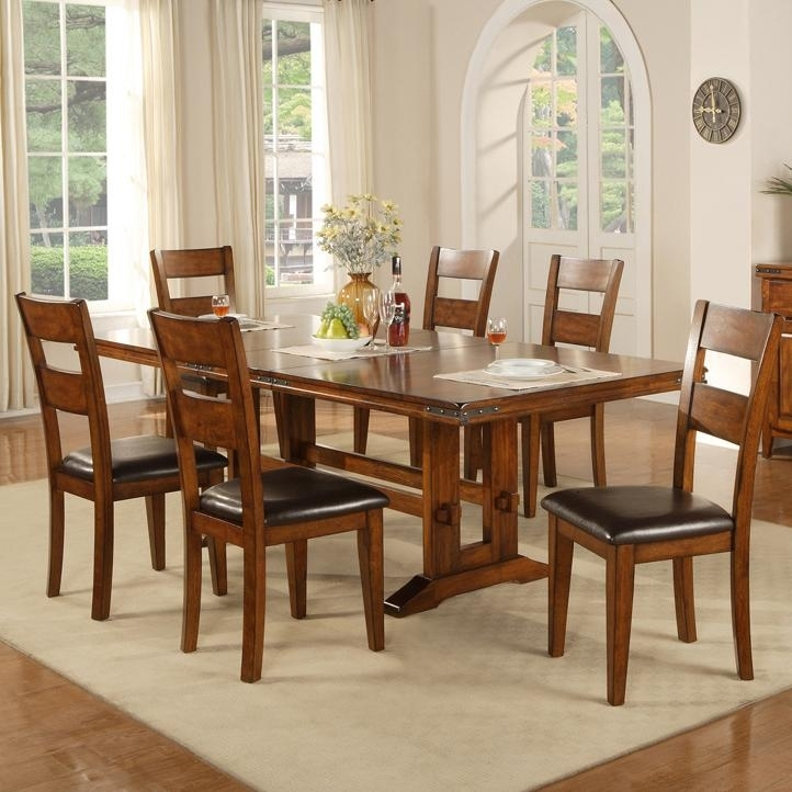 Colton 7 Piece Trestle Table And Side Chair Set | Rotmans | Dining 7 Inside Craftsman 7 Piece Rectangular Extension Dining Sets With Arm & Uph Side Chairs (Image 13 of 25)