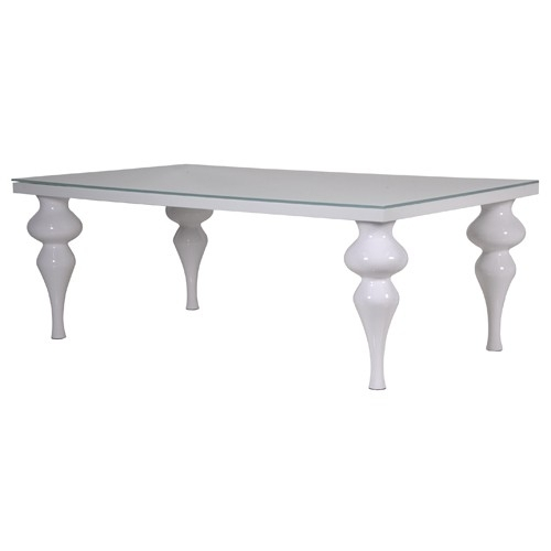 Column Leg White High Gloss Dining Table Pertaining To Oval White High Gloss Dining Tables (View 11 of 25)