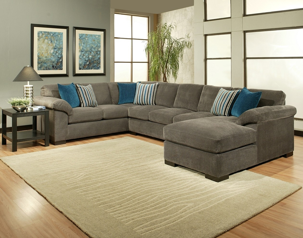 Comfort Industries 3 Pc Fire Fly Sectional Sofa In Sierra Down 3 Piece Sectionals With Laf Chaise (Image 8 of 25)