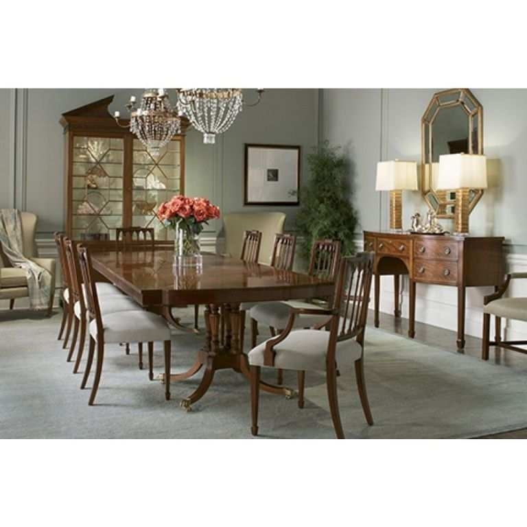 Comfortable Double Pedestal Dining Table Magnolia Home Of Baker Regarding Magnolia Home Double Pedestal Dining Tables (Image 2 of 25)