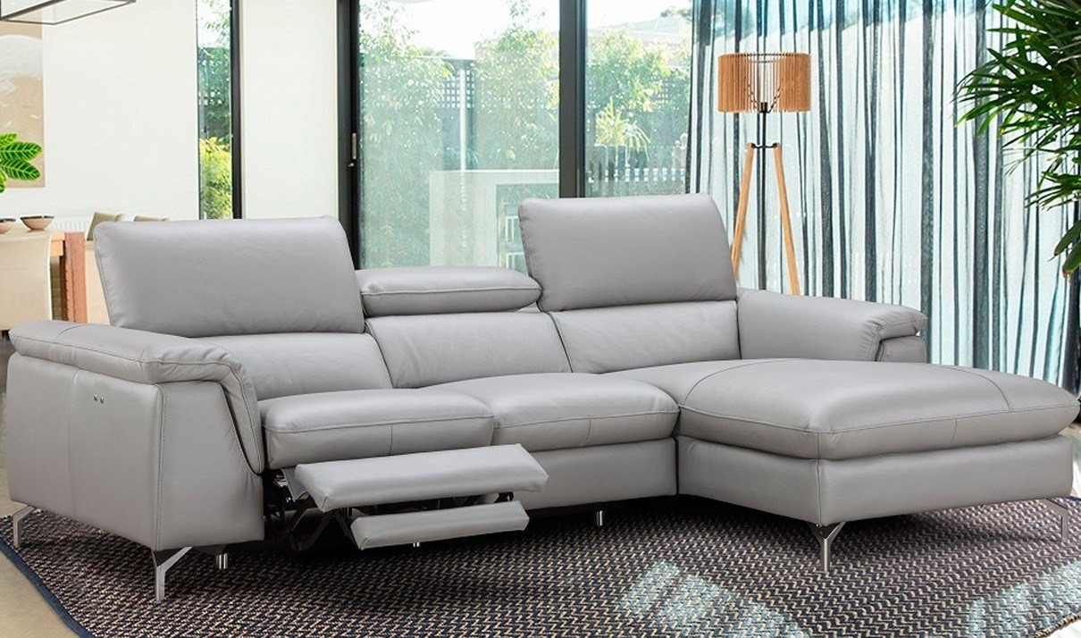 Comfy Rightfacing Chaise Serena Premium Lear Sectional Sofa Serena In Tenny Dark Grey 2 Piece Right Facing Chaise Sectionals With 2 Headrest (Image 9 of 25)