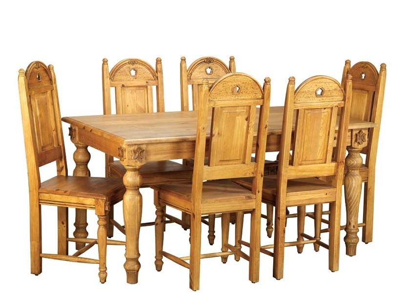 Comfy Wood Dining Table And Chairs – Darbylanefurniture Regarding Dining Tables Chairs (Image 2 of 25)