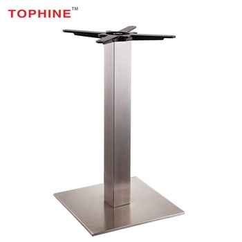Commercial Contract Brushed Stainless Steel Square Dining Table Base Inside Brushed Steel Dining Tables (View 16 of 25)